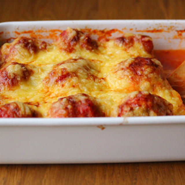 ミートボールのトマトソースがけオーブン焼き