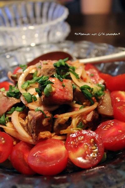 牛肉とキムチの「スタミナサラダ」
