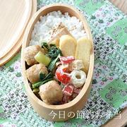 【15分節約弁当】市販品で楽ちん!肉だんごと野菜の照り焼きがメインのお弁当
