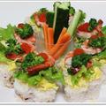 ミツカンすし酢で蛸すし飯の飾り寿司♪