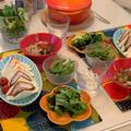 ル・クルーゼで♪食べるスープ*サニーレタスと海藻とアボカドの簡単サラダ☆彡