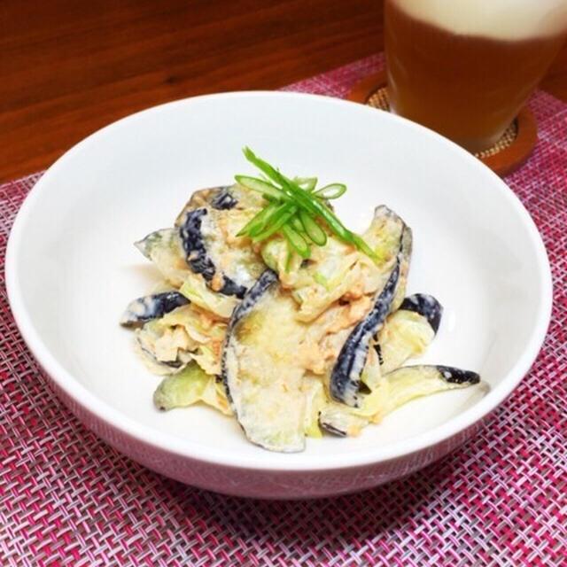 【パクパク箸が止まらない!】ナスと鮭フレークの生姜醤油マヨ和え(*>ω<*)