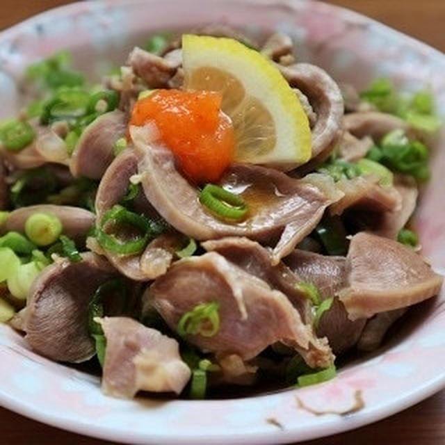 簡単に作れるダイエットレシピを紹介☆砂肝のさっぱりポン酢かけ