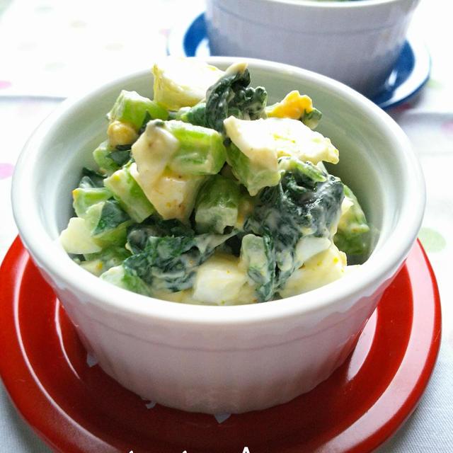大根葉とゆで卵のカレーマヨサラダ☆ & 昨日発売!クックパッドの絶品なすレシピに掲載♪