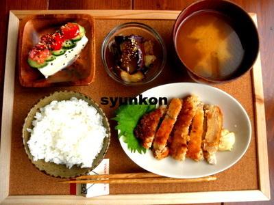 【簡単!!カフェ定食】鶏胸肉で*チキンカツ南蛮定食