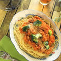 野菜たっぷりでお肉の存在感もアリ!な 簡単パスタソース