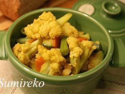 >カリフラワーソテー カレー風味 マクロビオティックレシピ by スミレコさん