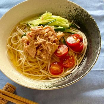 【レシピ】ツナそうめん とバランスの良い食事について