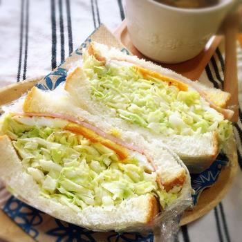 最近マイブームの具沢山サンドイッチ