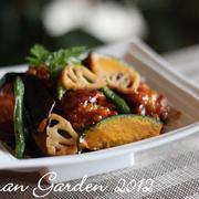 旬の野菜と鶏の黒酢あん レシピ