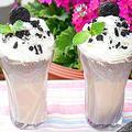 オレオで作るアイスミルクシェイク【とても簡単スムージー】