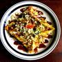 お好み焼き風ガレットと、とろーりチーズベーコンの卵かけごはん(キッコーマンウスターソースレシピ)