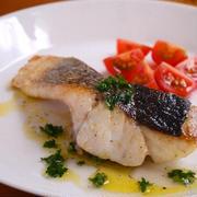 スズキのポワレ♪すだちソース。おいしい魚の焼き方