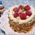 いちごのデコレーションケーキ♪ おうちで簡単です☆