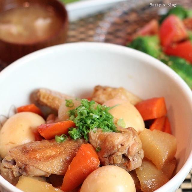 鶏手羽と大根、卵の煮物