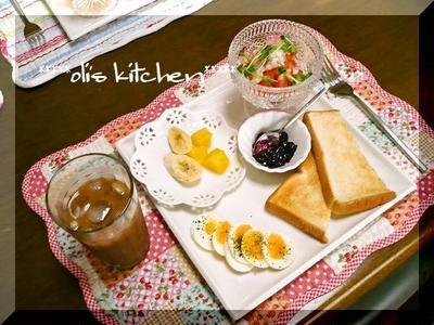 ワンプレートで朝ご飯♪ゆで卵