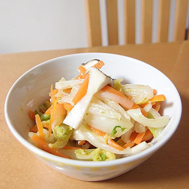 【作り置きおかず】白菜の柚子胡椒和え