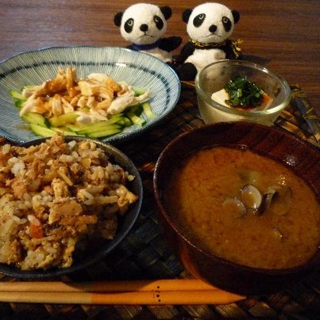 豆腐ごはん献立 &朝昼ごはん