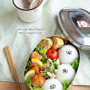 サーモンの竜田揚げ弁当。