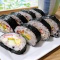 鶏胸肉とブロッコリーの茎の巻き寿司|レシピ・作り方 by 筋肉料理研究家Ryotaさん