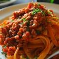 レンズ豆とトマトソースのパスタ