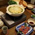 ミルフィーユみぞれレモン鍋 と まぐろの握り寿司風。