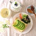 クリームチーズ&アボカドのトーストde朝ごはん… by みっこ*mikkoさん