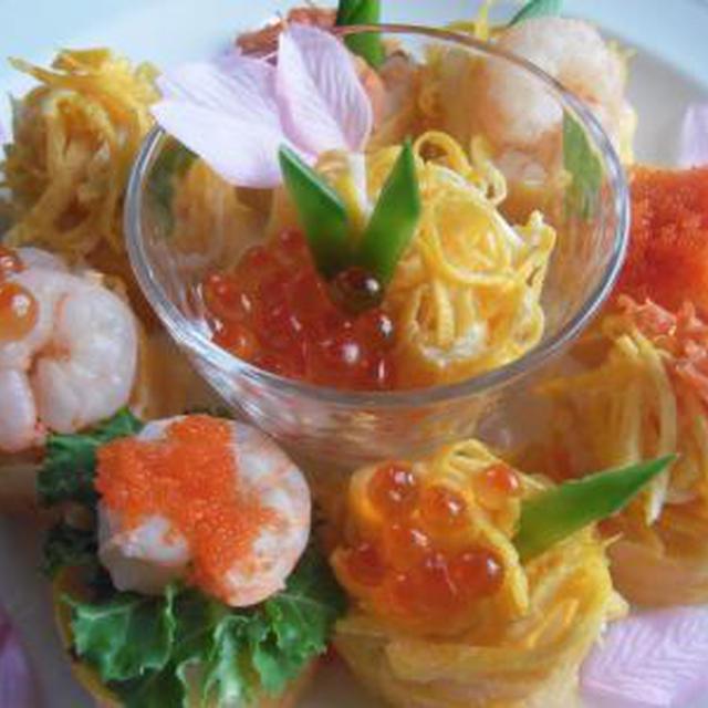 ひな祭りに♪お花の卵巻き寿司。 ~泉ハウジングパークさんひな祭りイベントレシピ~