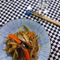 白滝と野菜の甘辛炒め