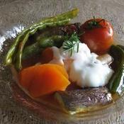 ごろごろお野菜の温玉のせラタトゥイユ
