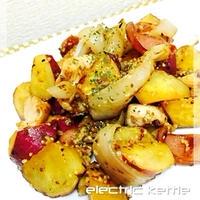 さつま芋と鶏のガーリックマスタード炒め