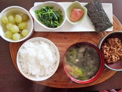 和な朝食♪