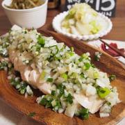 【ダイエットにぴったりなメイン料理♡電子レンジで!しっとり鶏胸肉パート2♡蒸し鶏のねぎ塩ダレ♡】