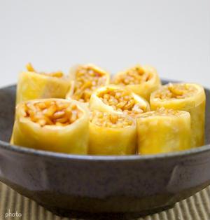 残った焼きそばで揚げ春巻き&庶民派 寿司饂飩「まるとく」