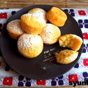 【簡単!!おやつ*焼くまで5~10分】ホットケーキミックスでふわふわカップケーキ