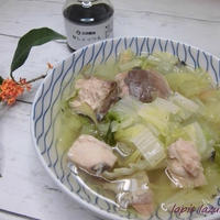 さば缶と白菜のしょっつるスープ