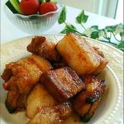 スタミナメニュー♪「簡単オーブン豚バラブロックのスタミナ焼き」、ハンディ扇風機。