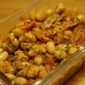 大豆とベーコンの炒り煮
