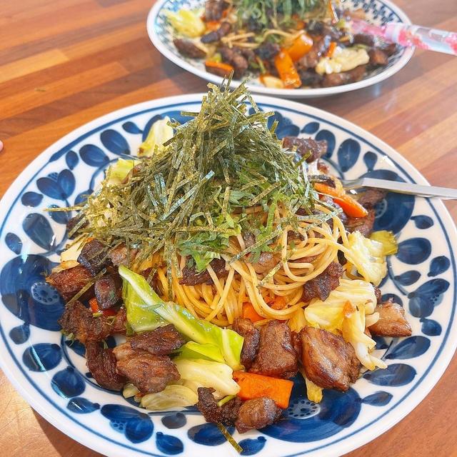 和風ステーキスパゲティーです!!