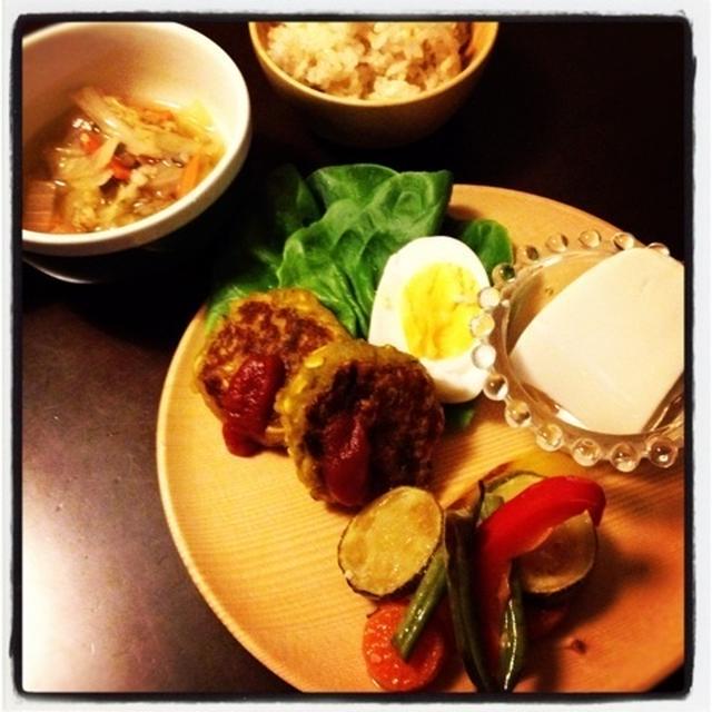 カボチャとレンズ豆のハンバーグ
