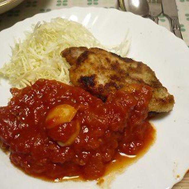 豚肉のトマト煮込みとカツレツのトマトソース トマトソースでどっちを食べる?