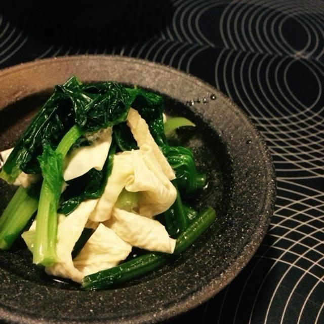 小松菜と湯波のお浸し