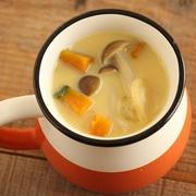簡単♪カボチャときのこの豆乳クリームスープ