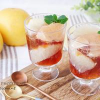 グレープフルーツとアールグレイ紅茶のゼリーポンチ
