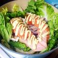 ルクルーゼ de 秋鮭の白菜包み蒸し