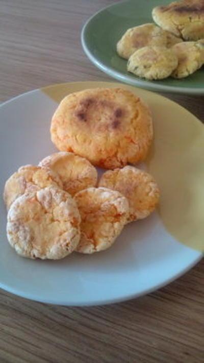 人参と米粉のおやきとクッキー風