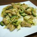 【簡単レシピ】鶏肉のゴーヤとキャベツのカレーマヨ炒め♪