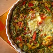 *トマトとおかひじきのオムレツ・オレガノ風味 朝日と一緒に召し上がれ♪