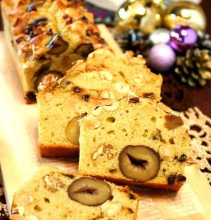 バター不使用米粉のマロンナッツパウンドケーキ☆