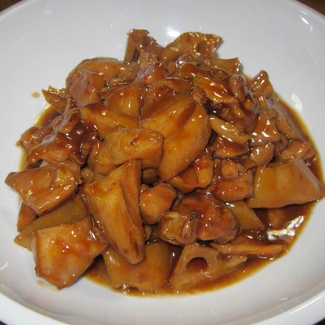 鶏肉と蓮根の中華風ピリ辛煮